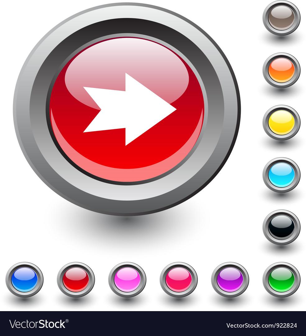 Forward arrow round button vector | Price: 1 Credit (USD $1)