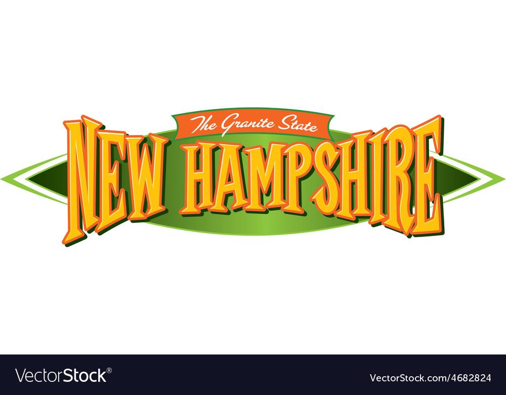 New hampshire the granite state vector | Price: 1 Credit (USD $1)