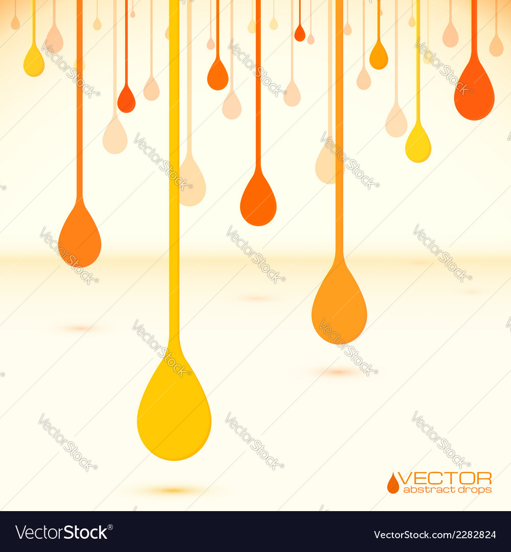 Orange drops in flat design style vector | Price: 1 Credit (USD $1)