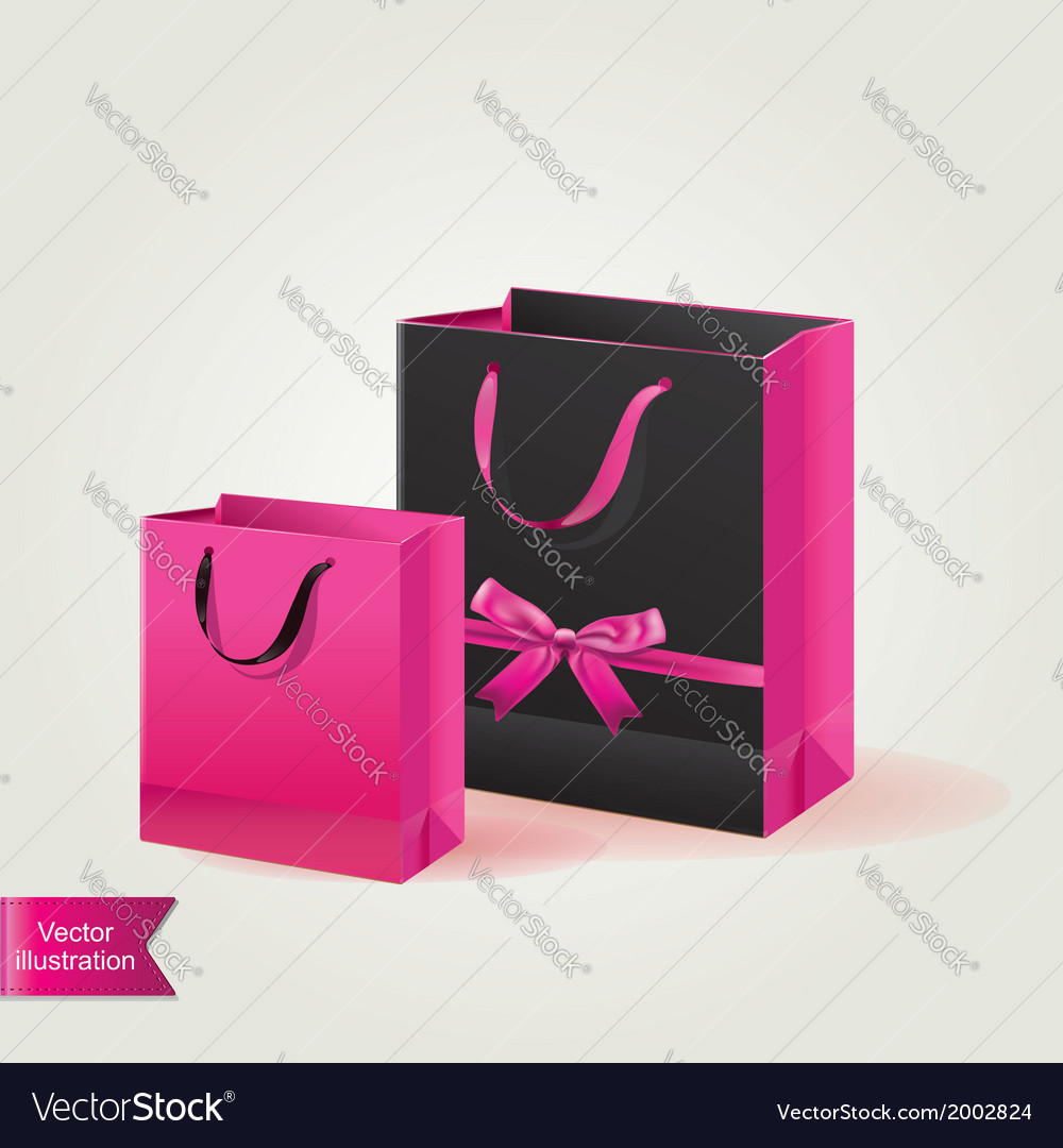 Shopping bags isolated vector | Price: 1 Credit (USD $1)