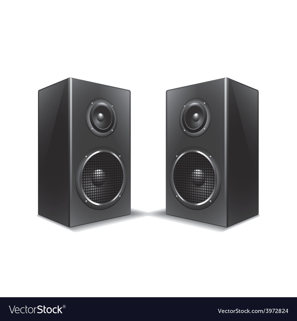Speakers isolated vector | Price: 1 Credit (USD $1)