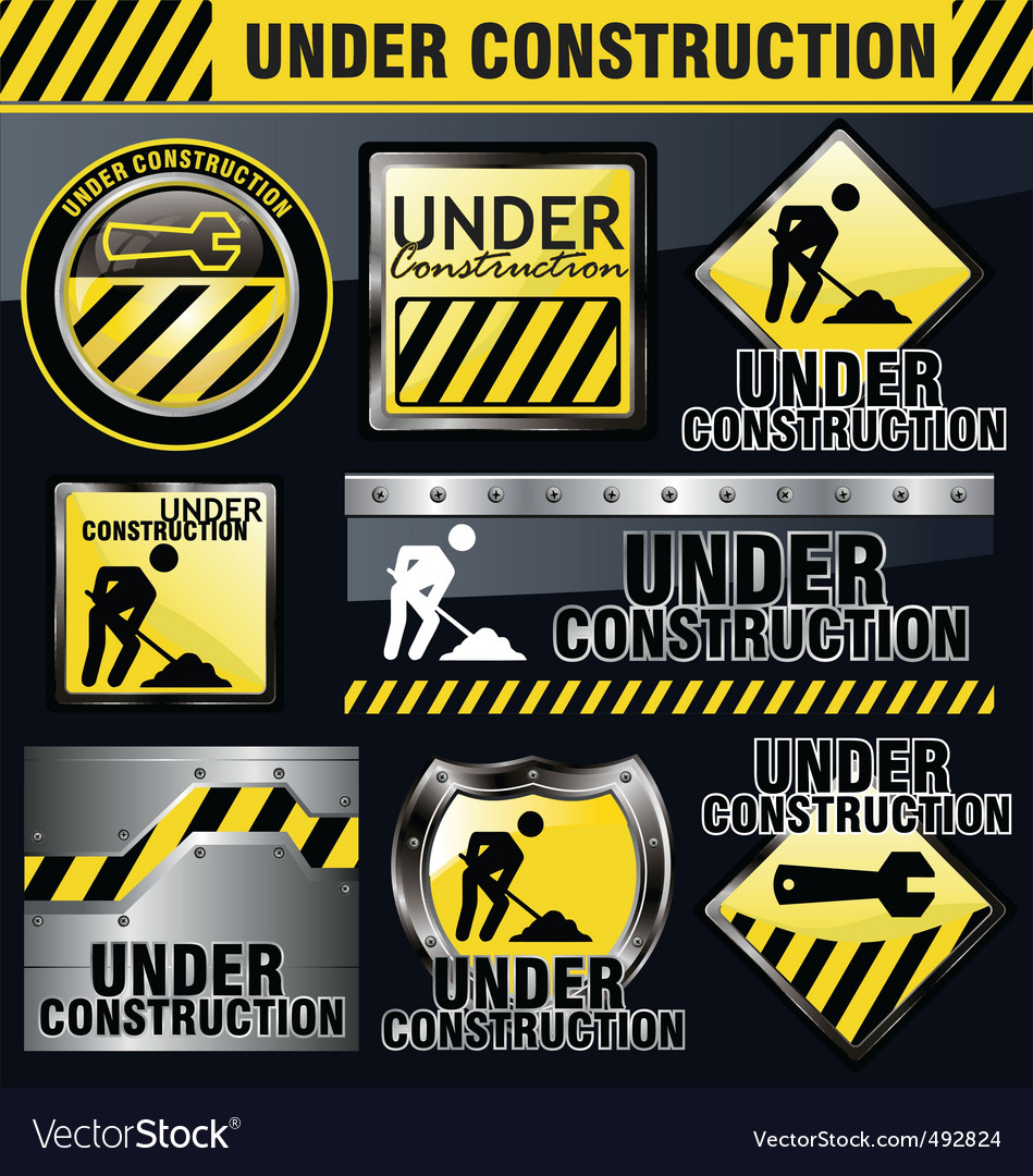 Under construction sign vector | Price: 1 Credit (USD $1)