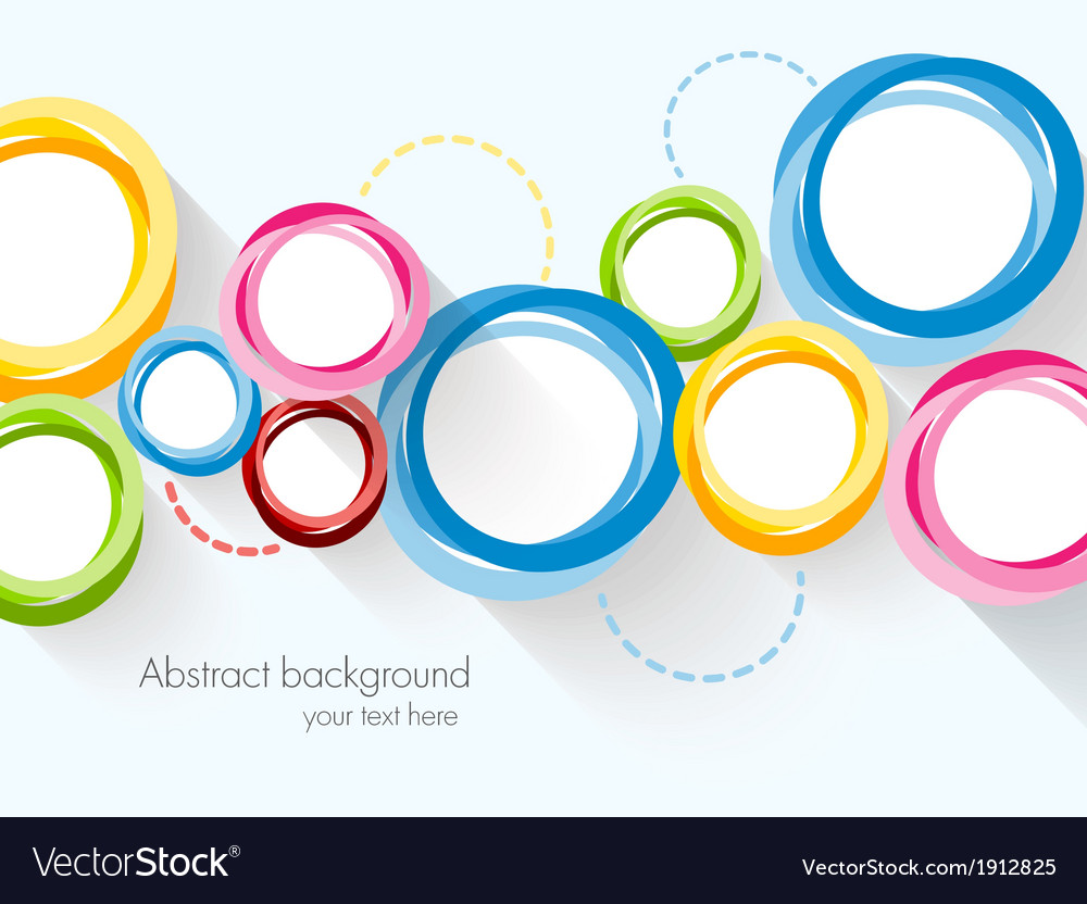 Abstract background with colorful circles vector | Price: 1 Credit (USD $1)