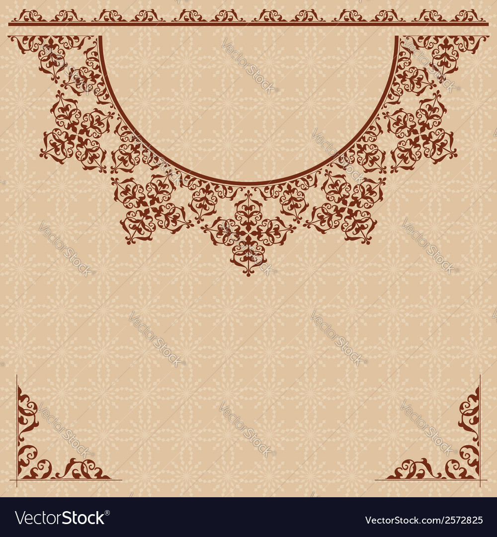 Beige background with vintage ornament vector | Price: 1 Credit (USD $1)