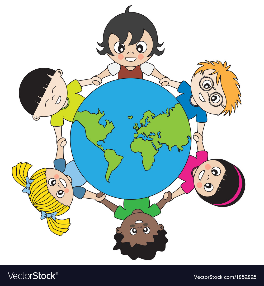 Children around the world united vector | Price: 1 Credit (USD $1)