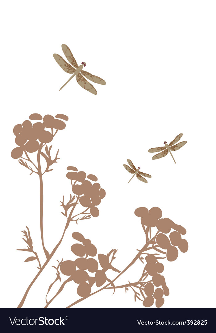 Dragonfly and fantasy vector | Price: 1 Credit (USD $1)