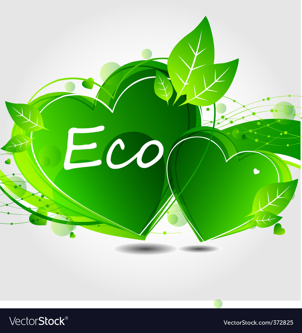 Eco leaf background vector | Price: 3 Credit (USD $3)