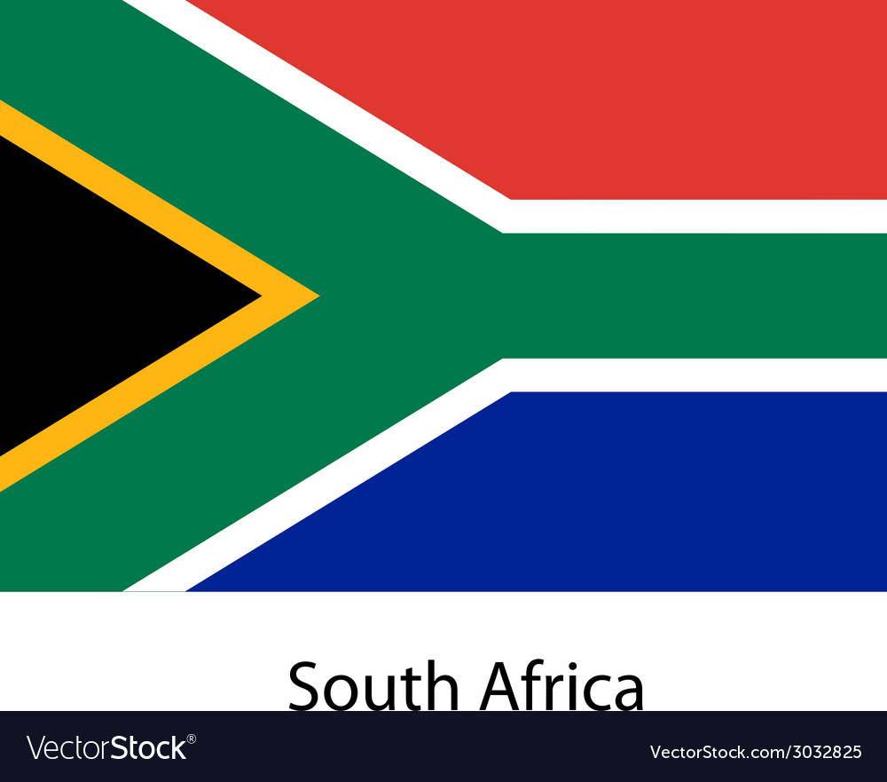 Flag of the country south africa vector | Price: 1 Credit (USD $1)