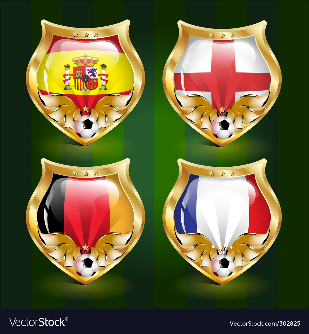 Football emblem vector | Price: 3 Credit (USD $3)