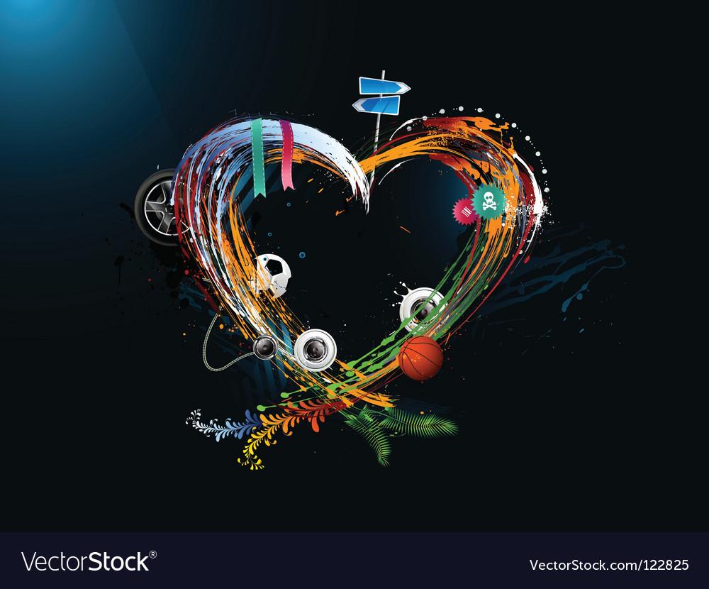 Grunge heart vector | Price: 3 Credit (USD $3)