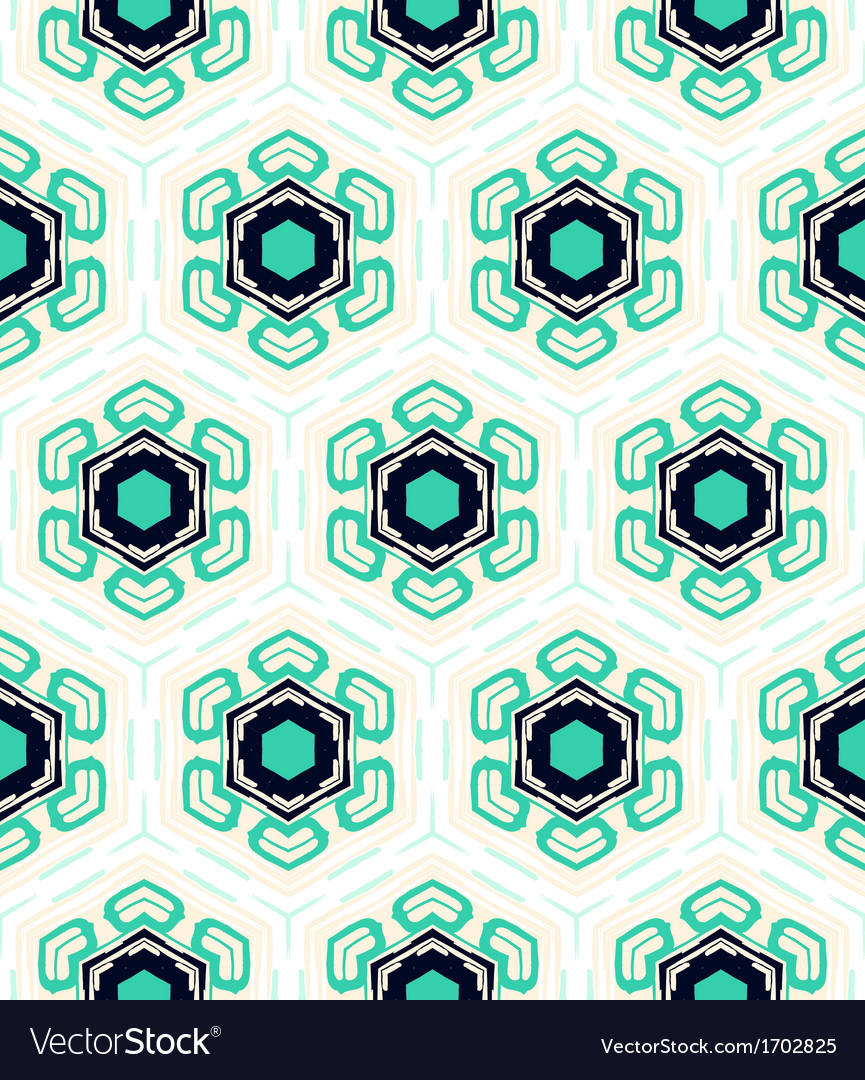 Pattern with stylized flowers in 1950s style vector   Price: 1 Credit (USD $1)