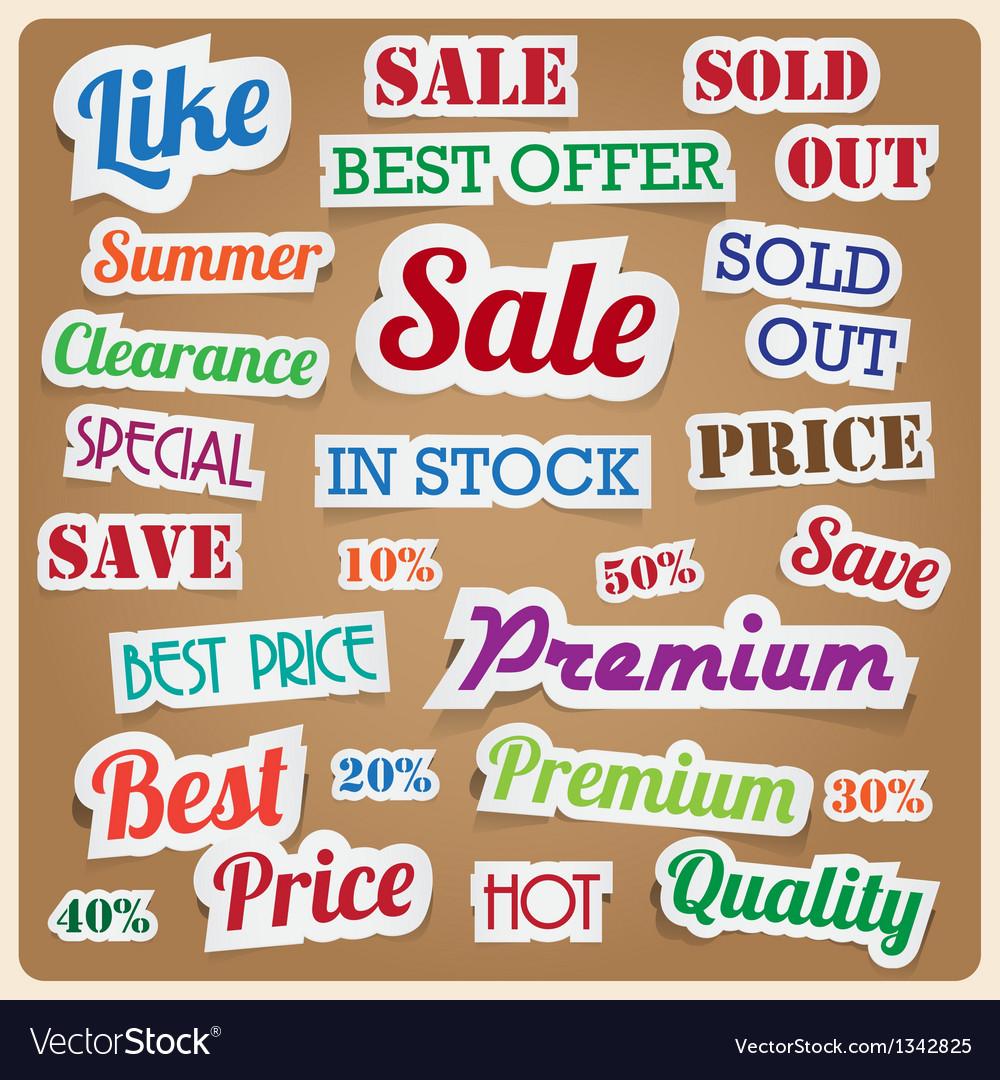 Retro vintage style speech sticker eps10 vector | Price: 1 Credit (USD $1)