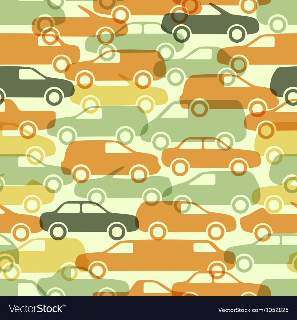 Seamless pattern with cars vector   Price: 1 Credit (USD $1)