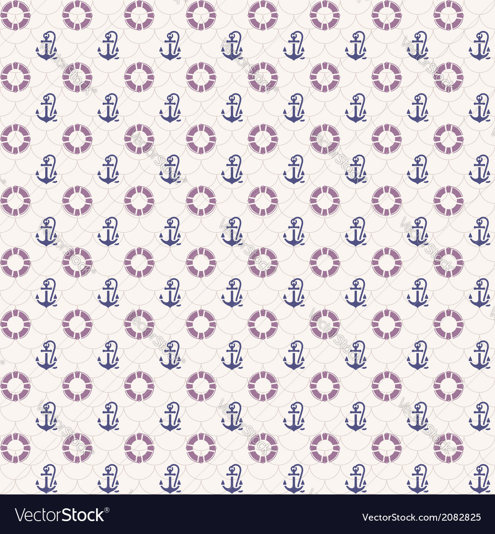 Seamless patterns anchors and lifebuoy vector | Price: 1 Credit (USD $1)
