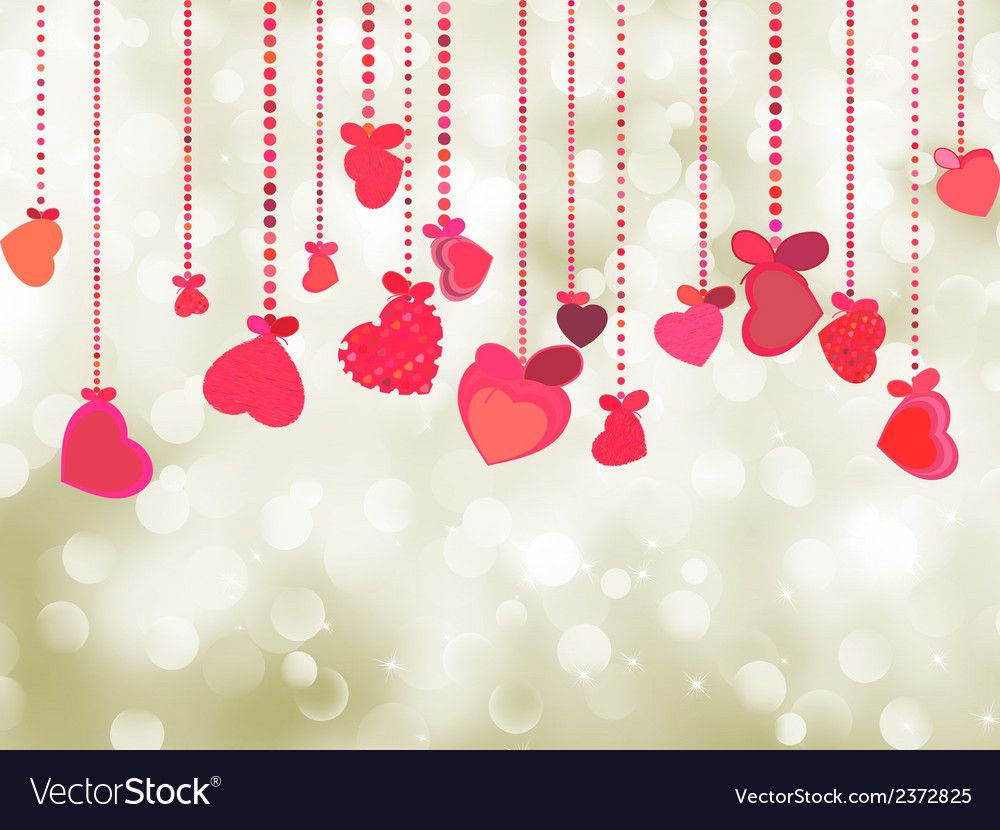 Valentine background of holiday lights eps 8 vector | Price: 1 Credit (USD $1)
