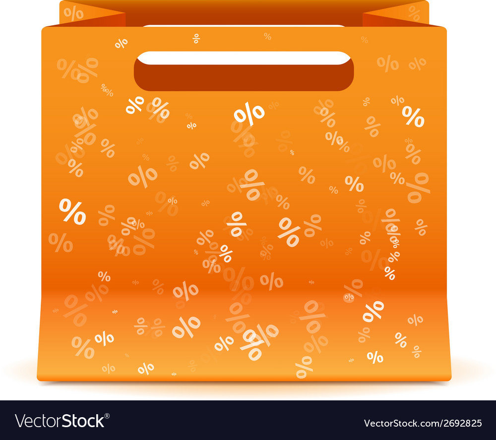 Yellow sale bag isolated vector | Price: 1 Credit (USD $1)