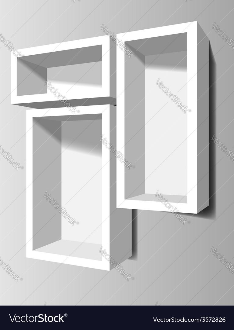 3d shelves vector | Price: 1 Credit (USD $1)