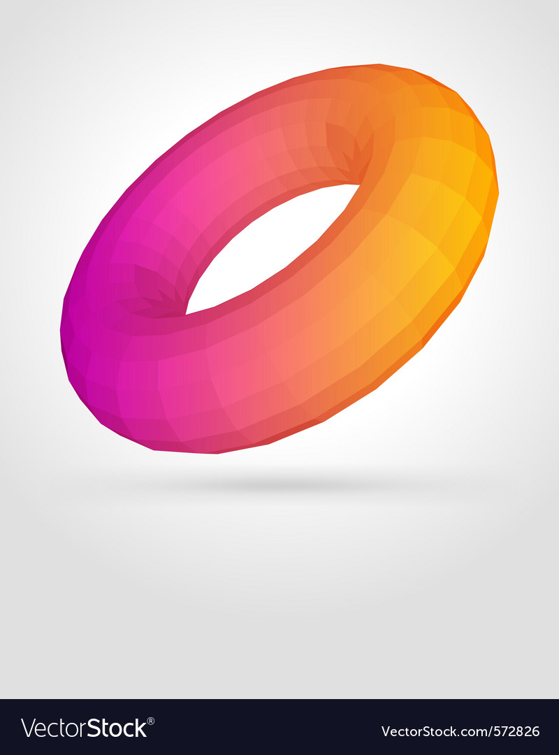 Abstract donuts shape vector | Price: 1 Credit (USD $1)