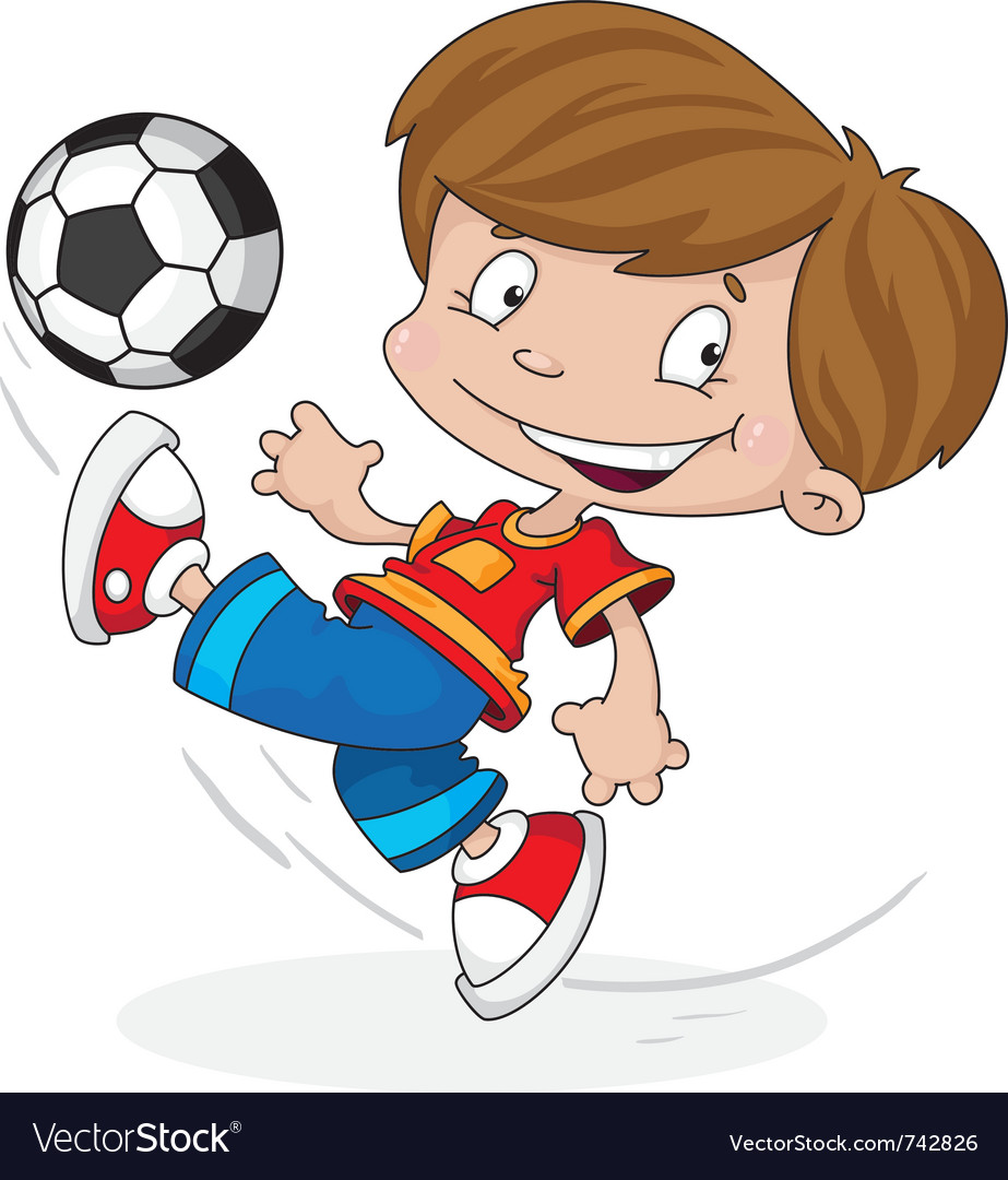 Boy with a ball vector | Price: 1 Credit (USD $1)