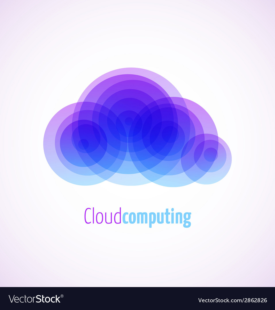 Cloud computing logo template icon vector | Price: 1 Credit (USD $1)