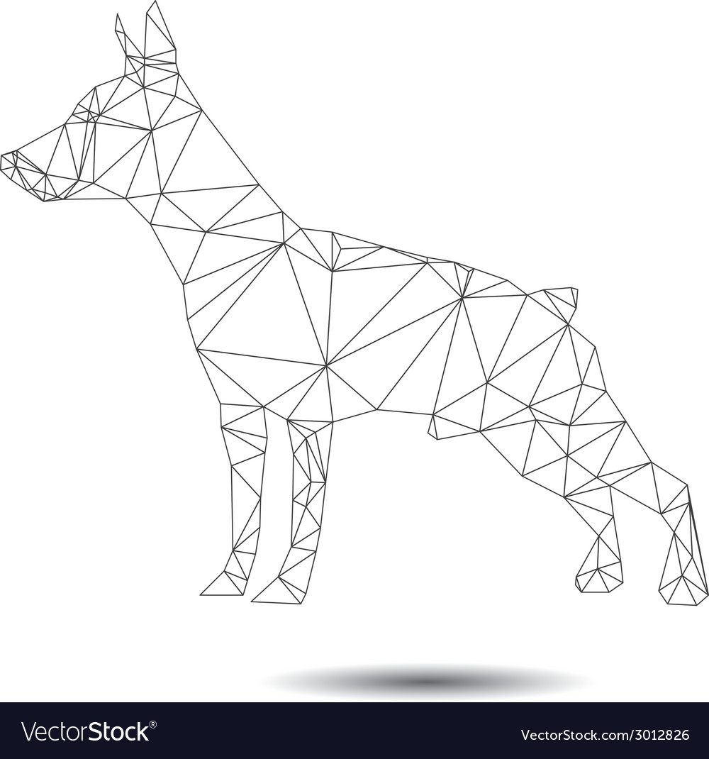 Dog abstract vector | Price: 1 Credit (USD $1)