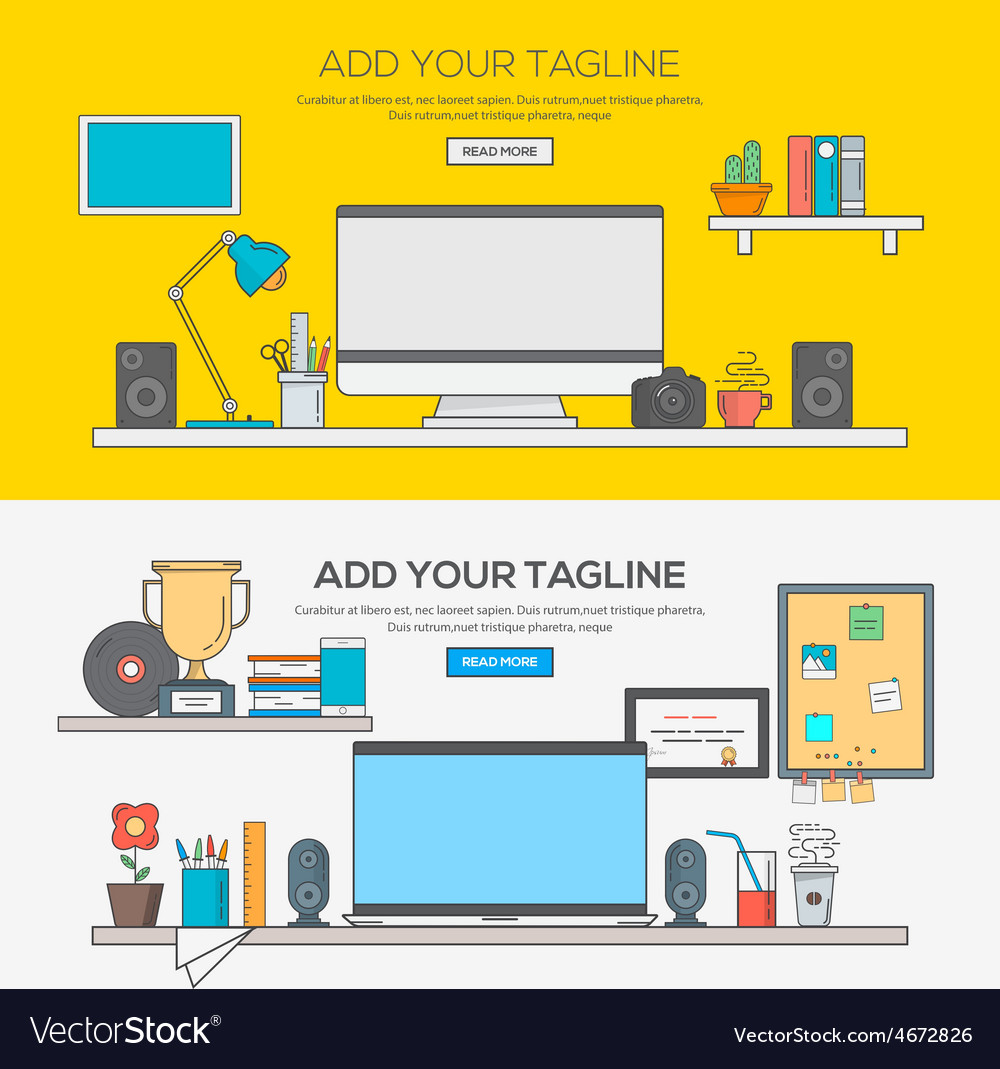 Flat design line concept 5 vector | Price: 1 Credit (USD $1)