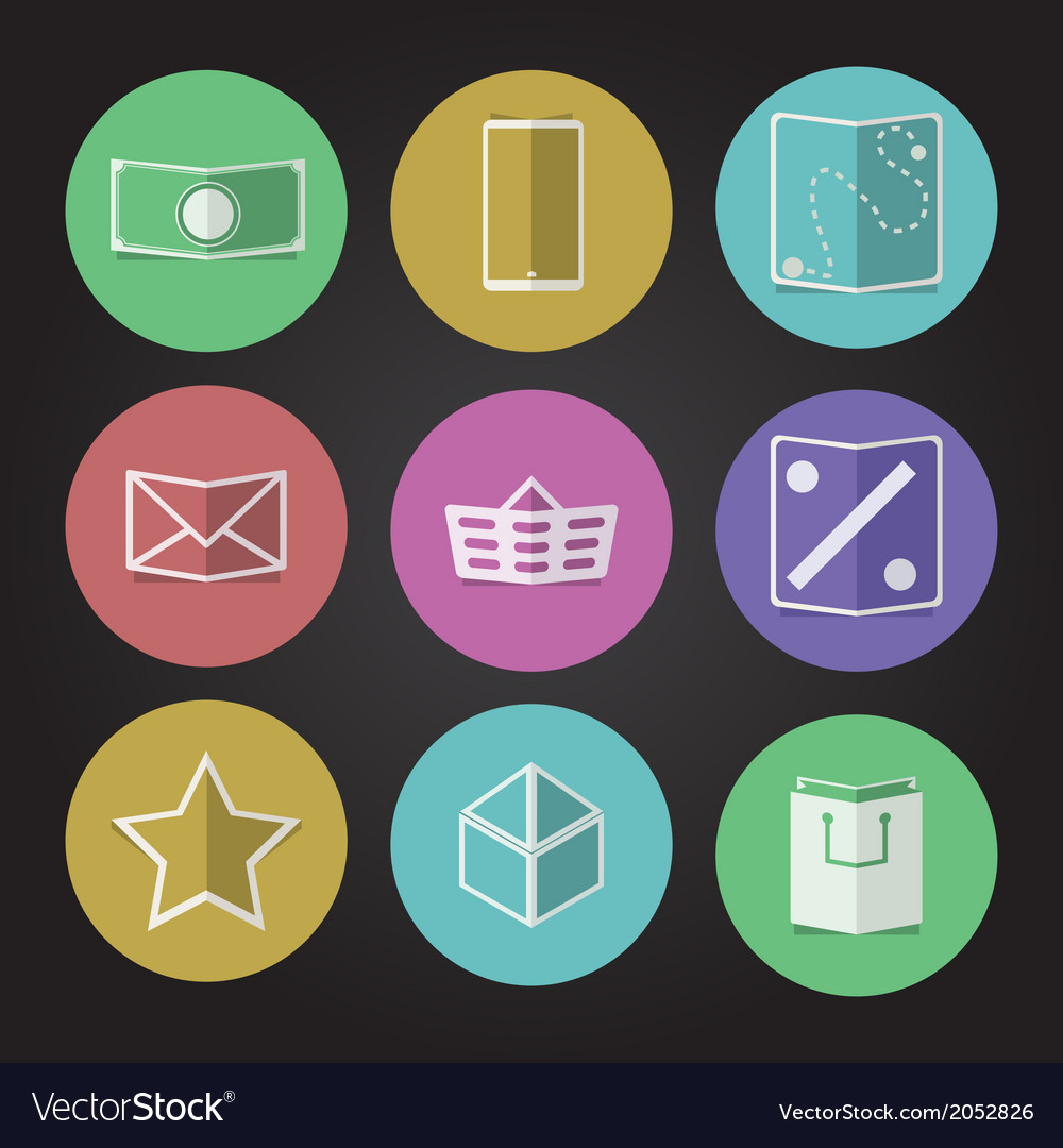 Flat icons for online store vector | Price: 1 Credit (USD $1)