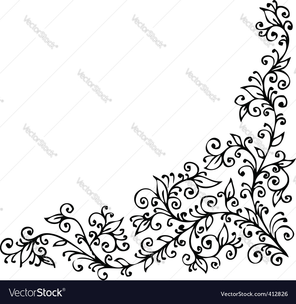 Floral vignette cdxxiv vector | Price: 1 Credit (USD $1)