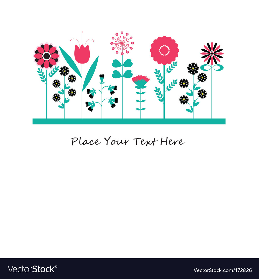 Flowers illustration vector | Price: 1 Credit (USD $1)
