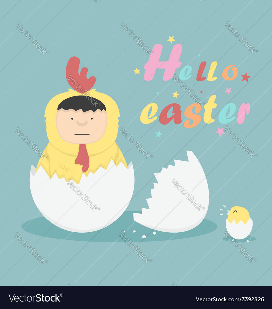 Hello easter vector | Price: 1 Credit (USD $1)