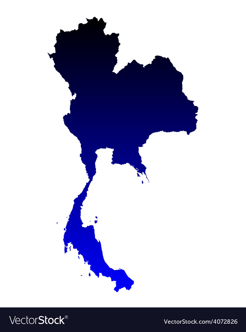 Map of thailand vector | Price: 1 Credit (USD $1)
