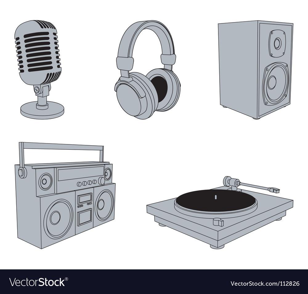 Music equipment vector | Price: 1 Credit (USD $1)