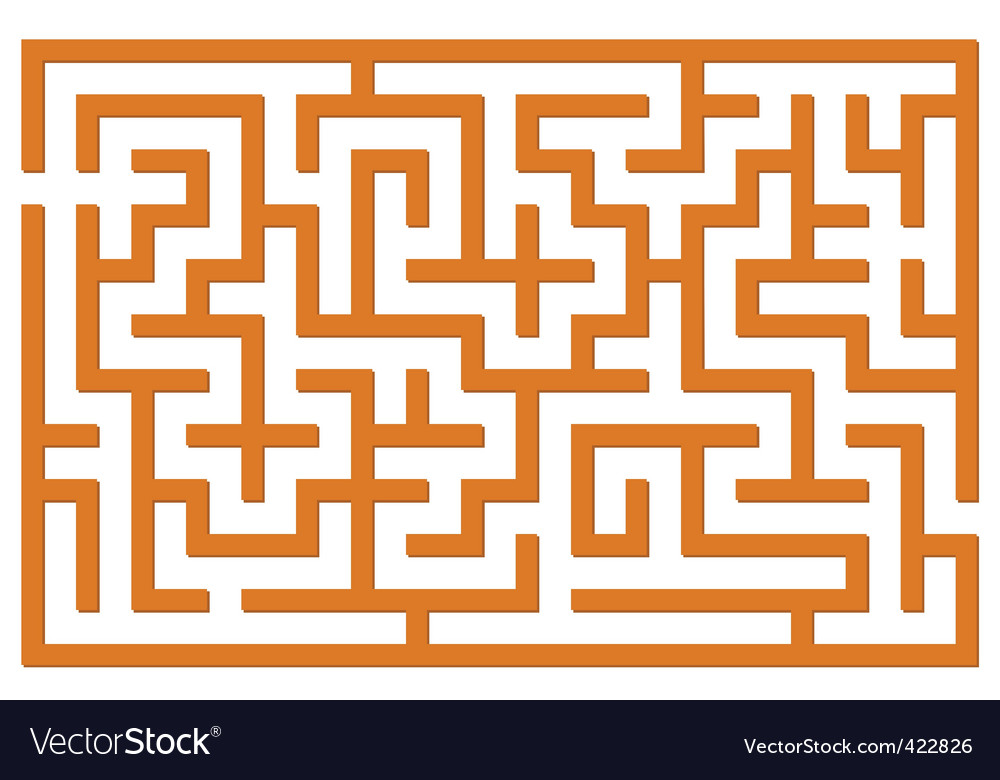 Orange labyrinth vector | Price: 1 Credit (USD $1)