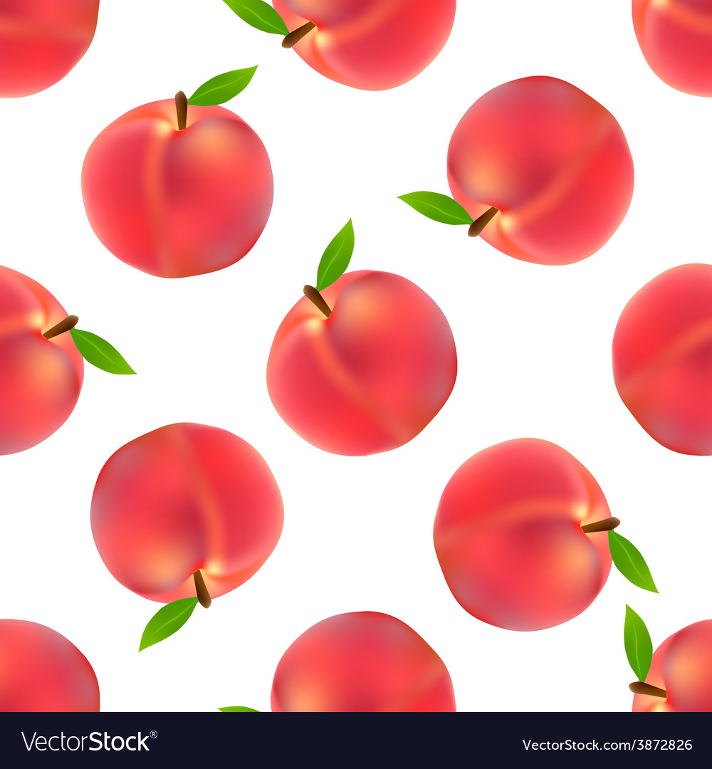 Peach seamless pattern vector | Price: 1 Credit (USD $1)