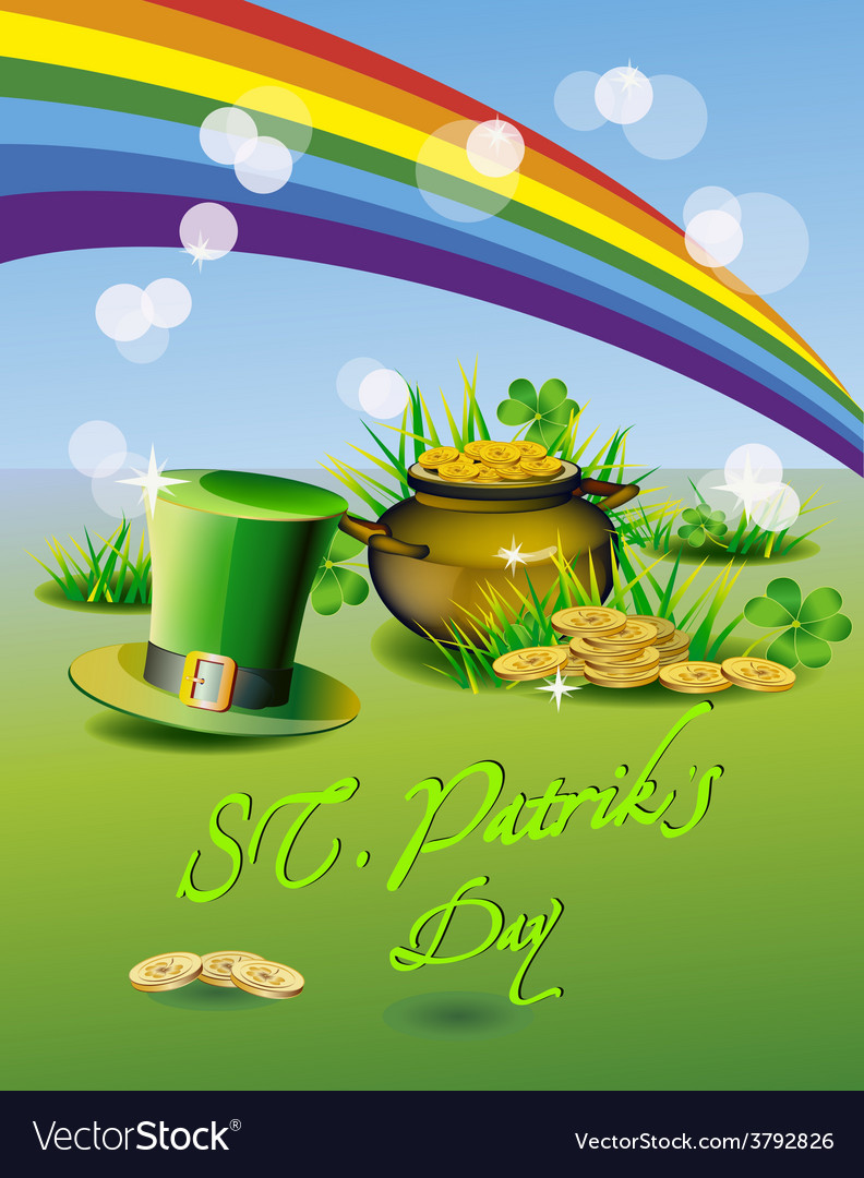 St patrick s day greeting card vector | Price: 3 Credit (USD $3)