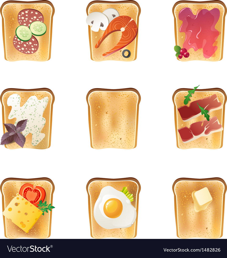 Toasts set vector | Price: 3 Credit (USD $3)