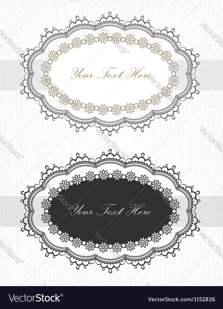 Vintage lace borders set vector | Price:  Credit (USD $)