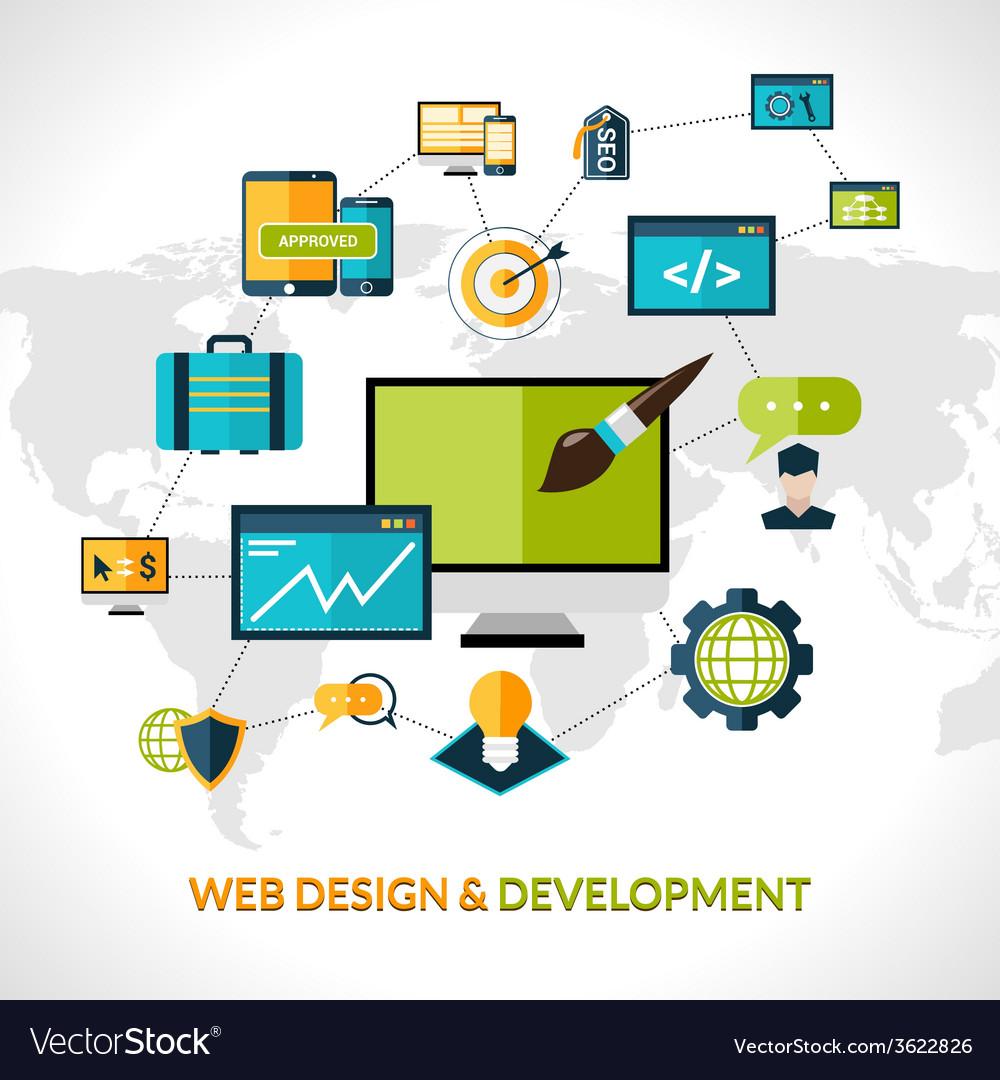 Web development composition vector | Price: 1 Credit (USD $1)