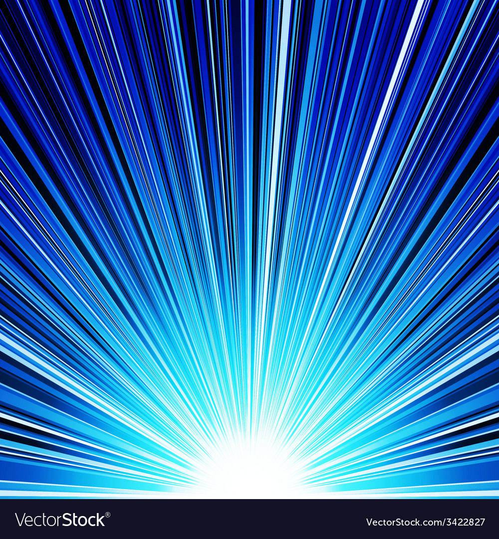 Abstract blue striped burst background vector | Price: 1 Credit (USD $1)