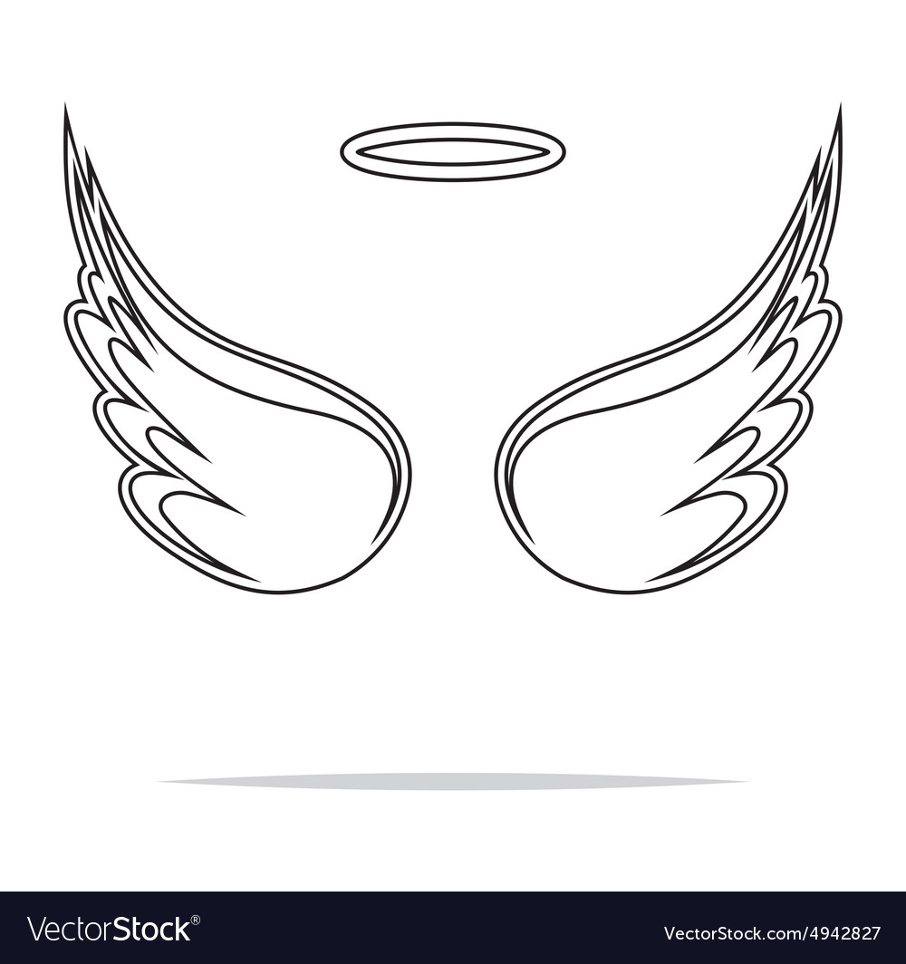 Angel wings icon outline1 vector