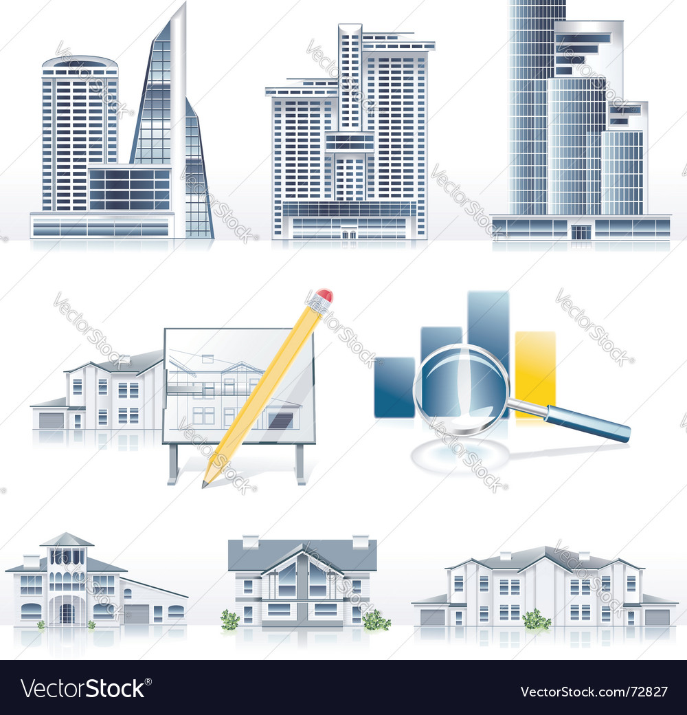 Architecture icons vector | Price: 5 Credit (USD $5)