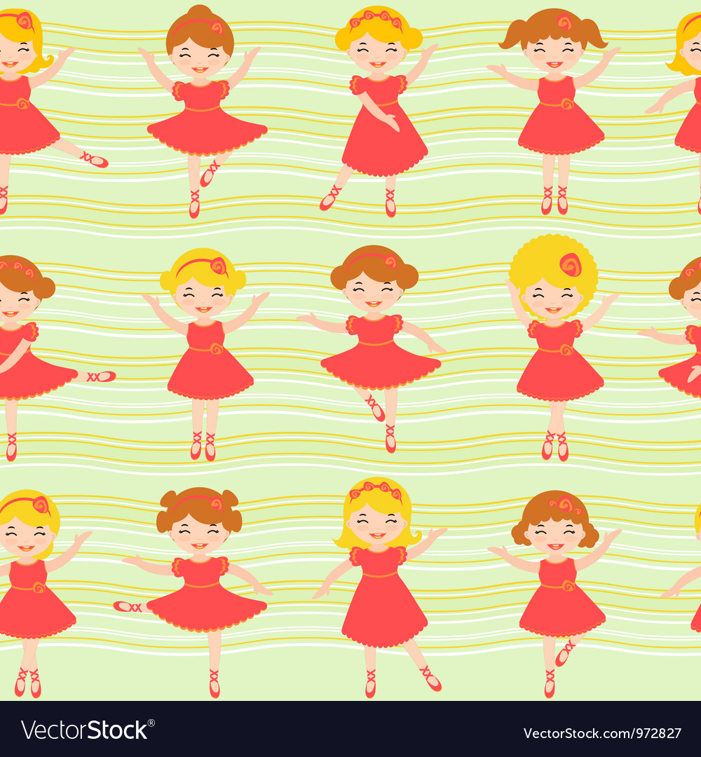 Ballerinas pattern vector | Price: 3 Credit (USD $3)