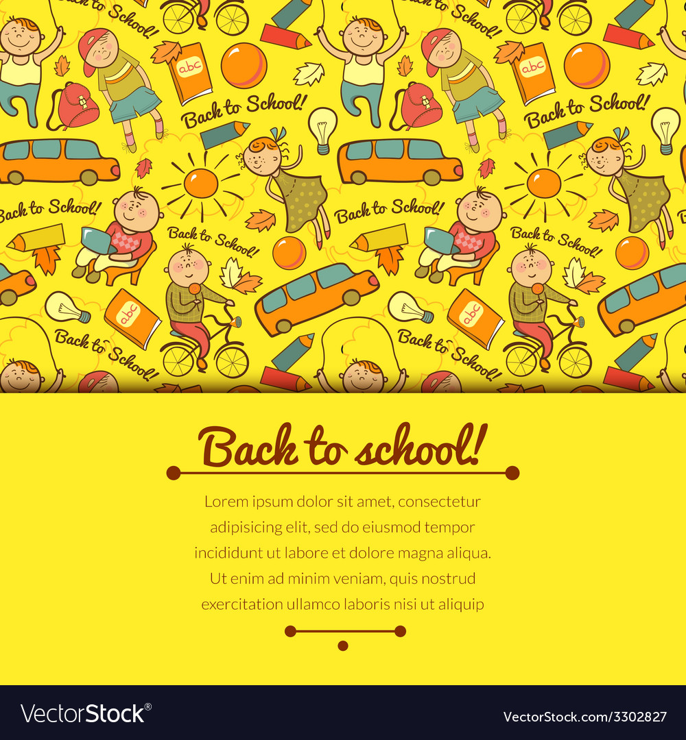 Cheerful background with children vector   Price: 1 Credit (USD $1)