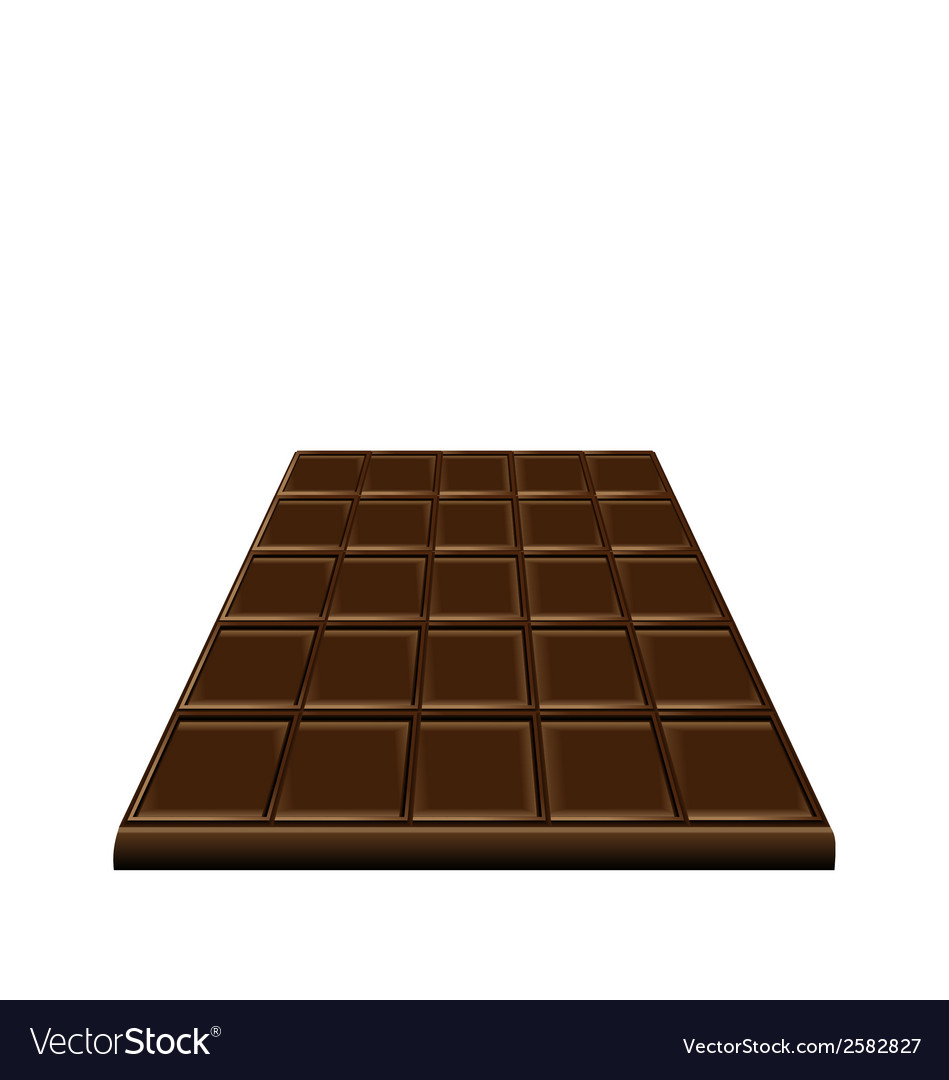 Chocolate bar isolated on white background sweet vector | Price: 1 Credit (USD $1)