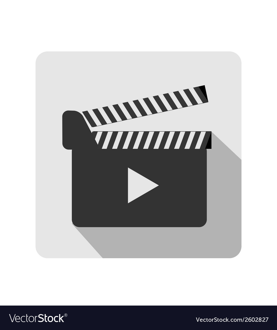 Clapboard flat icon vector | Price: 1 Credit (USD $1)
