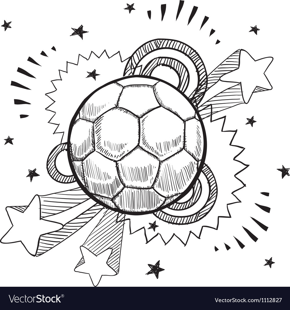 Doodle pop soccer football vector | Price: 1 Credit (USD $1)