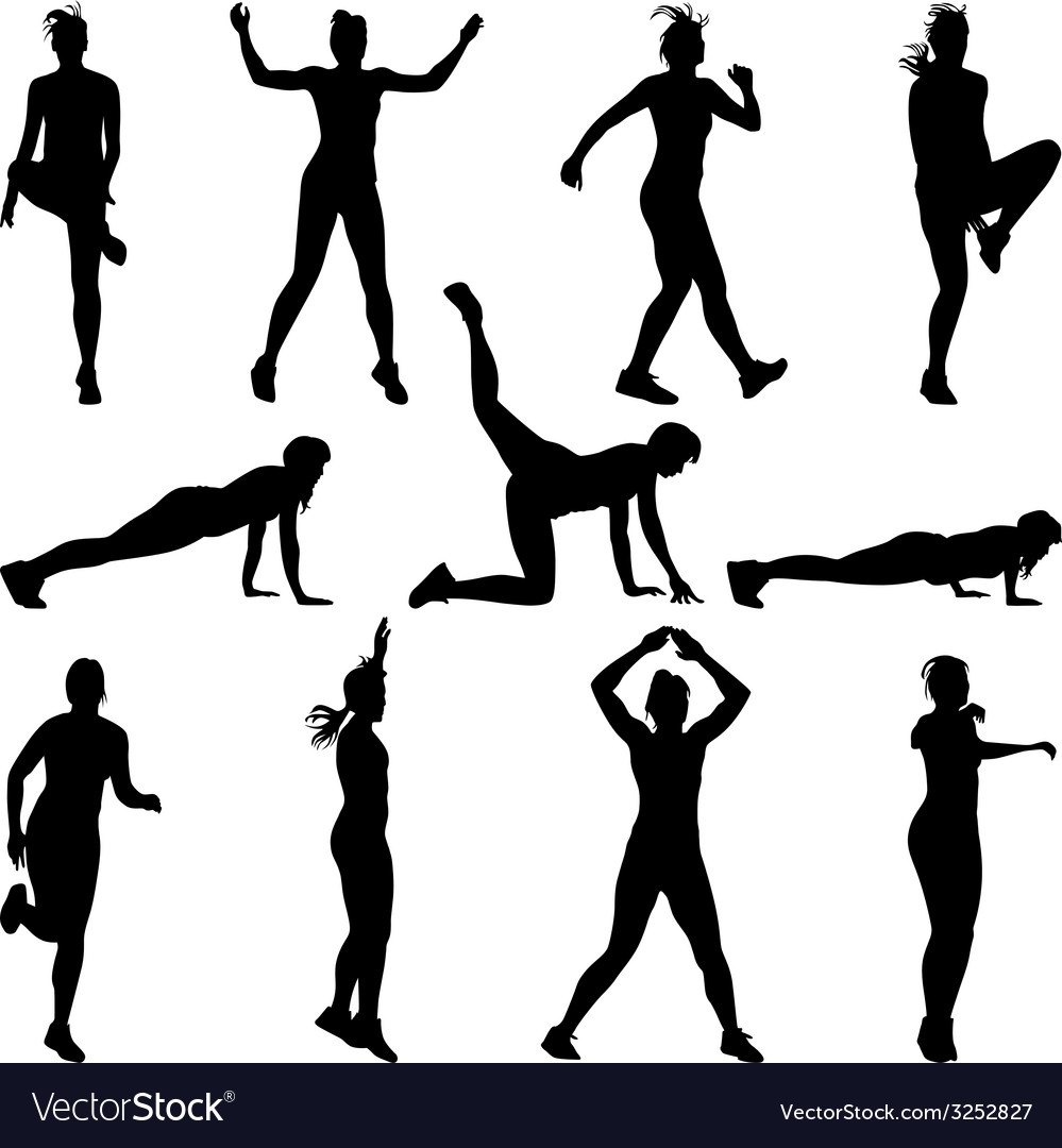 Fitness woman vector | Price: 1 Credit (USD $1)