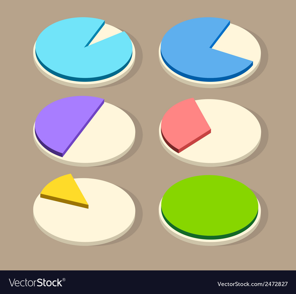 Flat business pie charts for your designs vector | Price: 1 Credit (USD $1)