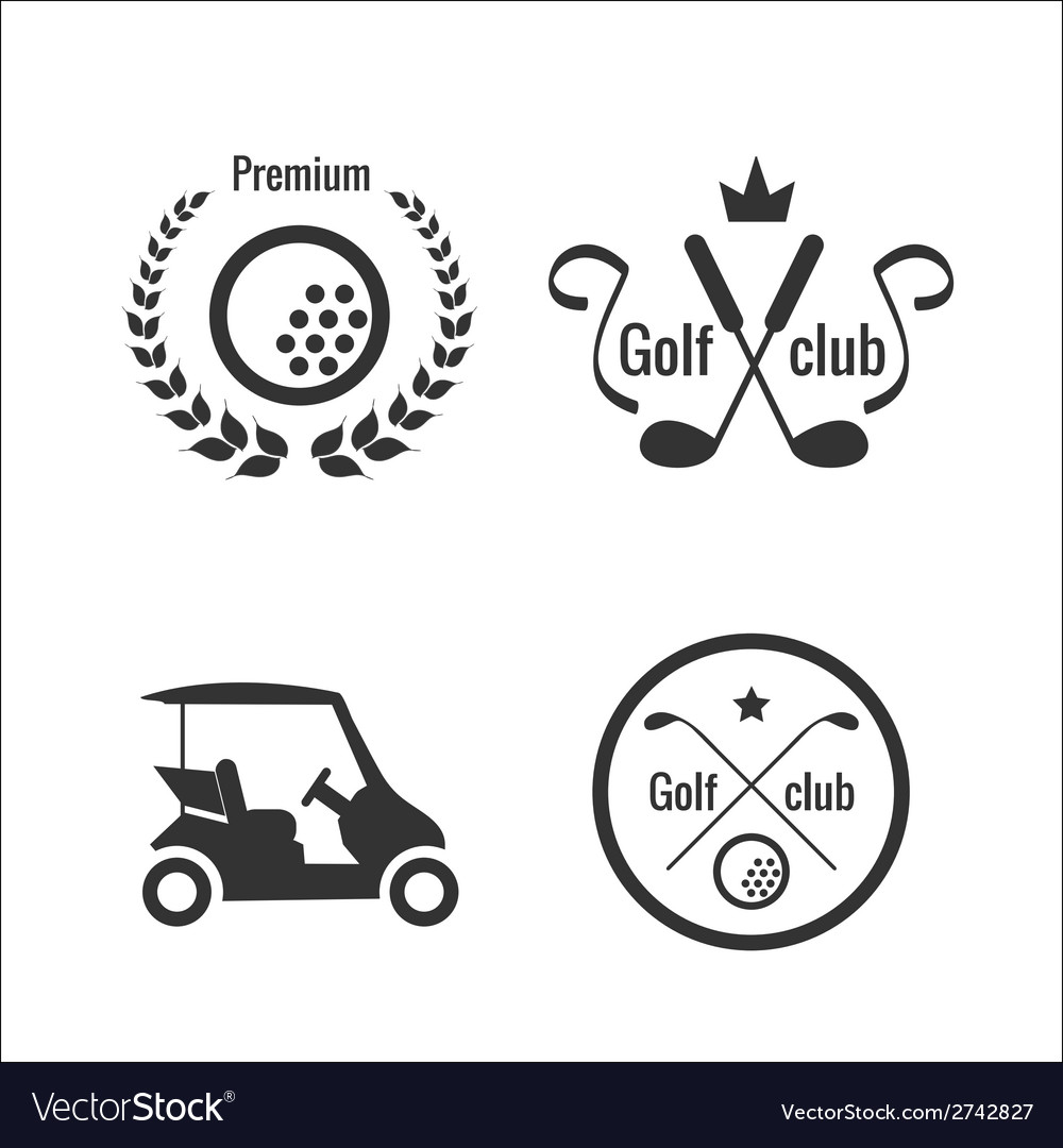Golf icons and labels vector | Price: 1 Credit (USD $1)