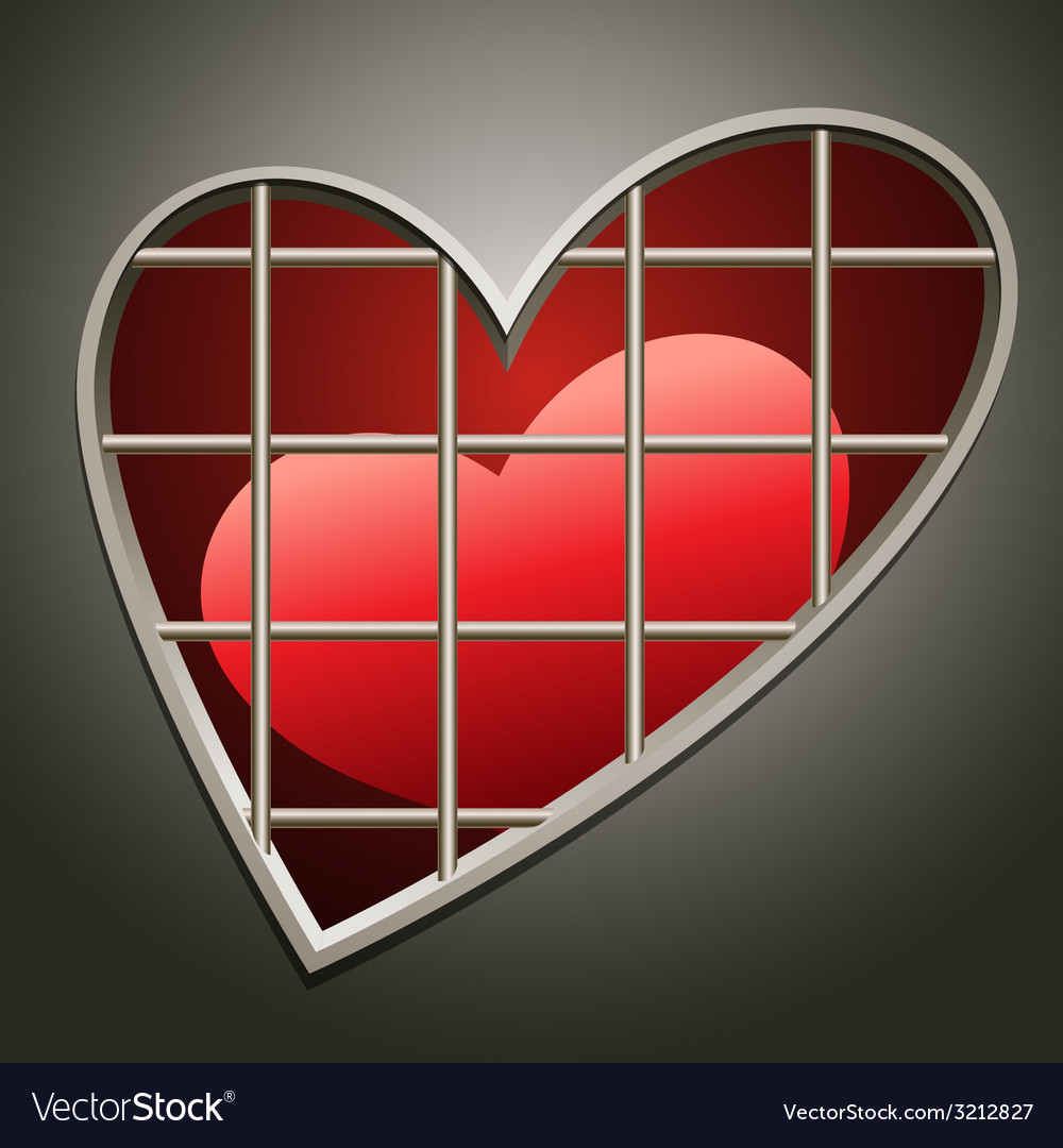Heart in jail vector | Price: 1 Credit (USD $1)
